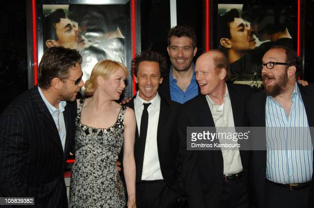 Russell Crowe Renee Zellweger Brian Grazer producer Craig Bierko Ron Howard director/producer and Paul Giamatti