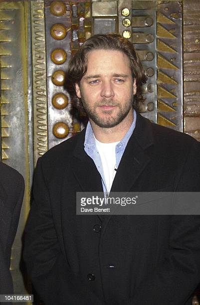 Russell Crowe Screening Of Movie A Beautiful Mind At The Curzon Cinema In Mayfair London