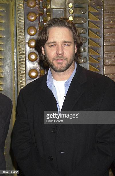 Russell Crowe Screening Of Movie 'A Beautiful Mind' At The Curzon Cinema In Mayfair London