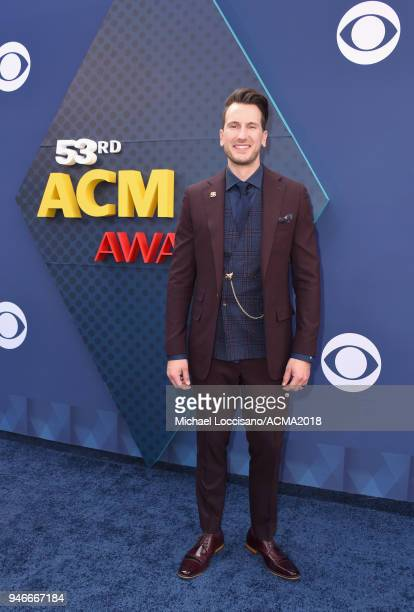 Russell Dickerson attends the 53rd Academy of Country Music Awards at MGM Grand Garden Arena on April 15 2018 in Las Vegas Nevada