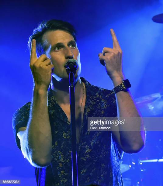 Russell Dickerson performs at sold out Nashville YOURS Album Release Show at Exit/IN on October 11 2017 in Nashville Tennessee