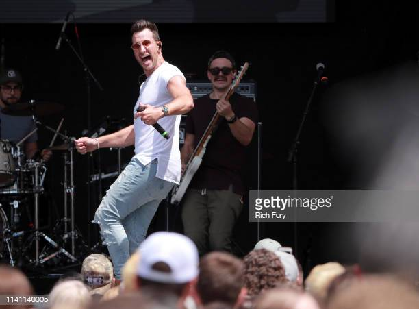 Russell Dickerson performs live during the Daytime Village at the 2019 iHeartCountry Festival Presented by Capital One at the Frank Erwin Center on...