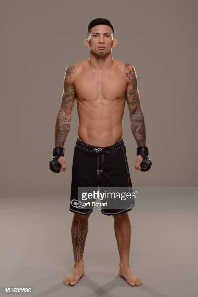 Russell Doane poses for a portrait during a UFC photo session at the Mandalay Bay Convention Center on July 2 2014 in Las Vegas Nevada