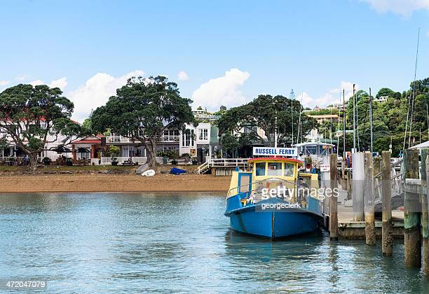 russell ferry - northland new zealand stock pictures, royalty-free photos & images