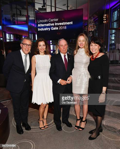 Russell Granet Ilana D Weinstein Michael Bloomberg Anna Nikolayevsky and Katherine Farley attend the Lincoln Center Alternative Investment Industry...