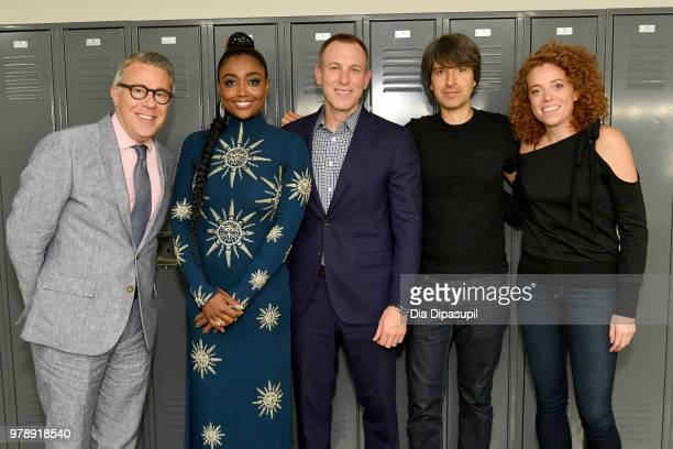 Russell Granet Patina Miller David Kramer Demetri Martin and Michelle Wolf attend Lincoln Center Corporate Fund's Stand Up Sing for the Arts at Alice...