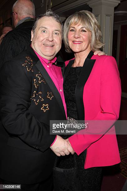 Russell Grant and Nina Myskow appear during media night for Russell Grant in the role of the Wizard in 'The Wizard of Oz' at the London Palladium on...