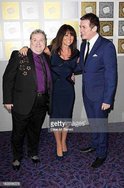 Russell Grant Linda Lusardi and Shane Ritchie arrive at the TRIC Television and Radio Industries Club Awards at The Grosvenor House Hotel on March 12...
