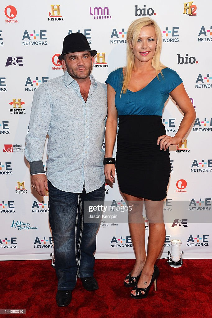 Russell Hantz (L) and Kristen Bredehoeft attend A&E Networks 2012 Upfront at Lincoln Center on May 9, 2012 in New York City.