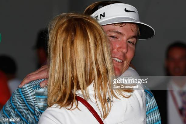 Russell Henley celebrates after winning The Honda Classic at PGA National Resort and Spa on March 2 2014 in Palm Beach Gardens Florida