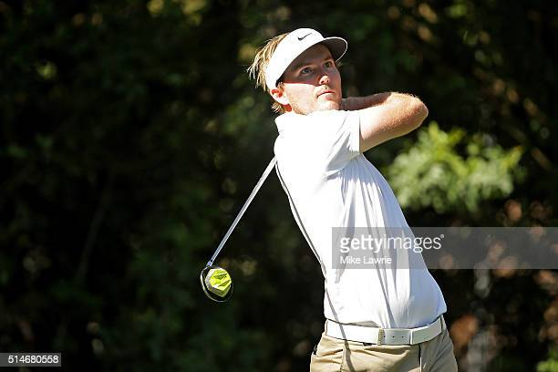 Russell Henley hits off the third tee during the first round of the Valspar Championship at Innisbrook Resort Copperhead Course on March 10 2016 in...