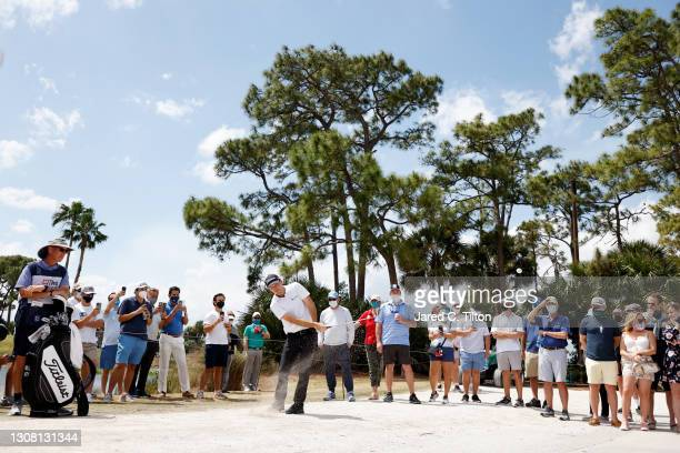 Russell Henley of the United States plays a shot on the third hole during the third round of The Honda Classic at PGA National Champion course on...