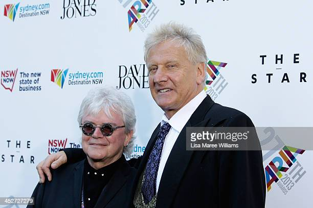 Russell Hitchcock and Graham Russell of Air Supplu arrives at the 27th Annual ARIA Awards 2013 at the Star on December 1 2013 in Sydney Australia