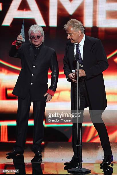 Russell Hitchcock and Graham Russell of Air Supply accept the Hallf of Fame ARIA during the 27th Annual ARIA Awards 2013 at the Star on December 1...