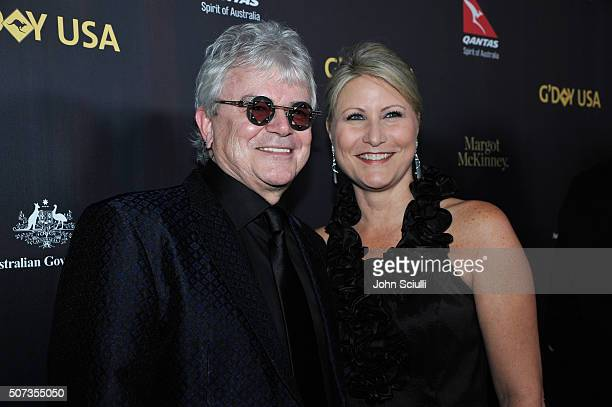 Russell Hitchcock and Laurie Hitchcock attend the G'Day USA 2016 Black Tie Gala at Vibiana on January 28 2016 in Los Angeles California