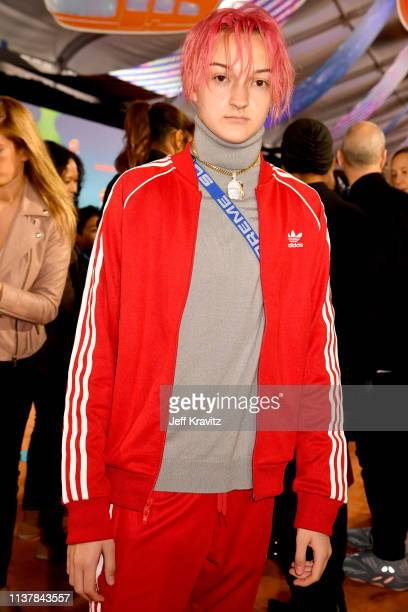 Russell Horning aka Backpack Kid attends Nickelodeon's 2019 Kids' Choice Awards at Galen Center on March 23 2019 in Los Angeles California