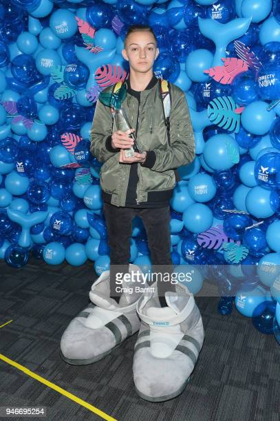 Russell Horning aka Backpack Kid poses with the award for Best Dance during  the 10th Annual. Nickelodeon s ... 371d312240dfd
