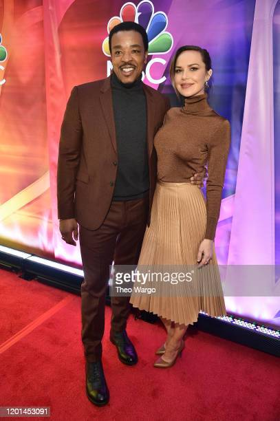 """Russell Hornsby and Arielle Kebbel from """"Lincoln Rhyme: Hunt for the Bone Collector"""" attend the NBC Midseason New York Press Junket at Four Seasons..."""