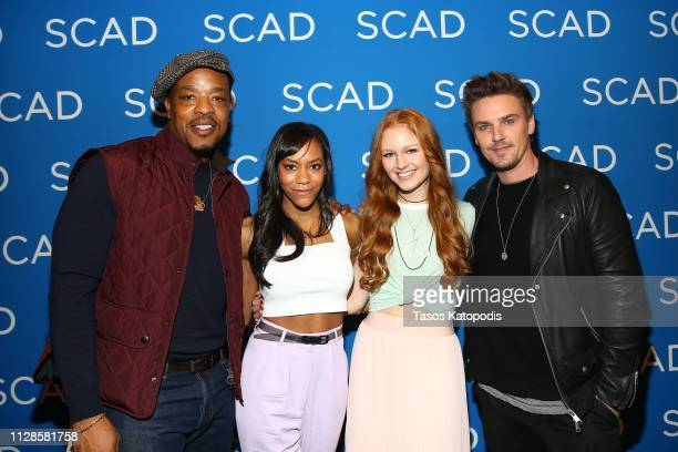 Russell Hornsby Nikki M James Clare O'Connor and Riley Smith attend The Enemy Within QA during SCAD aTVfest 2019 at SCADshow on February 09 2019 in...