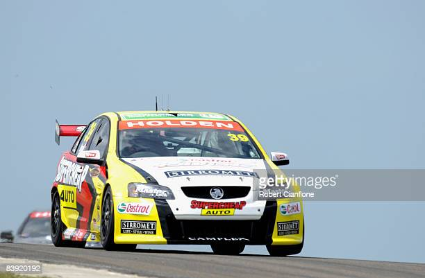 Russell Ingall of Supercheap Auto Racing drives his Holden during practice for the V8 Supercars Grand Finale at Oran Park Raceway on December 5 2008...