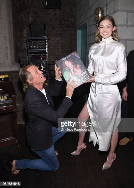 Russell James and Gigi Hadid attend the US book launch of Backstage Secrets By Russell James hosted by Russell James and Ed Razek on May 31 2018 in...