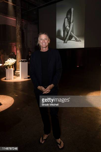 Russell James attends the Angels by Russell James Australian Book Launch during MercedesBenz Fashion Week Resort 20 Collections at Carriageworks on...