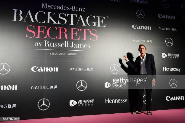 Russell James attends the MercedesBenz 'Backstage Secrets' By Russell James Book Launch Shanghai Exhibit Opening Party at Harbor City Gala Hall on...