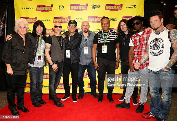Russell Javors Rudy Sarzo Kenny Aronoff Liberty DeVitto Fran Strine Ray Parker Jr phil Xenidis Chris Johnson and Jason Hook attend 'Hired Guns...