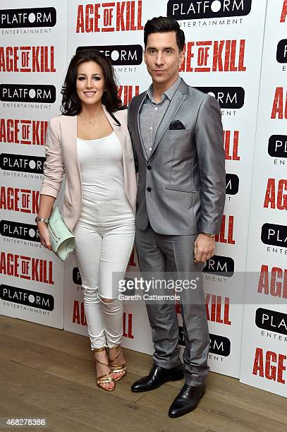 Russell Kane and Lindsey Cole attend a private screening of Age Of Kill at Ham Yard Hotel on April 1 2015 in London England