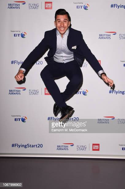 Russell Kane attends British Airways champagne reception to celebrate the airline raising £20 million for Comic Relief through it's charity Flying...