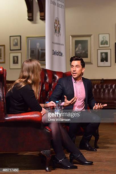 Russell Kane during an address at The Cambridge Union on March 9 2015 in Cambridge Cambridgeshire