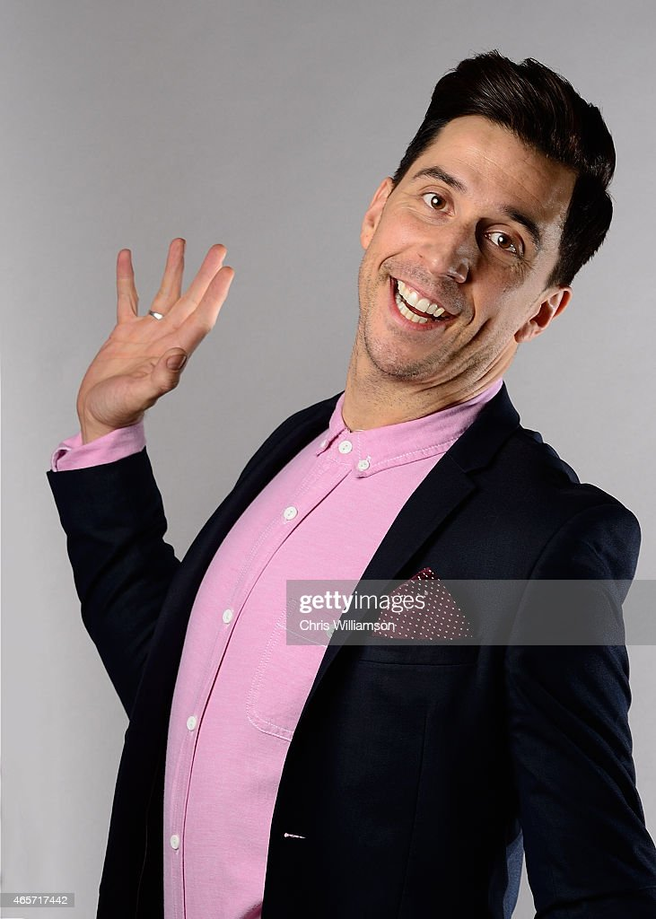 Russell Kane posing for portraits before addressing The Cambridge Union on March 9, 2015 in Cambridge, Cambridgeshire.