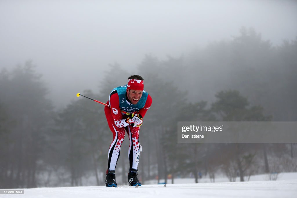 Russell Kennedy of Canada competes during the Men's 50km Mass Start Classic on day 15 of the PyeongChang 2018 Winter Olympic Games at Alpensia Cross-Country Centre on February 24, 2018 in Pyeongchang-gun, South Korea.