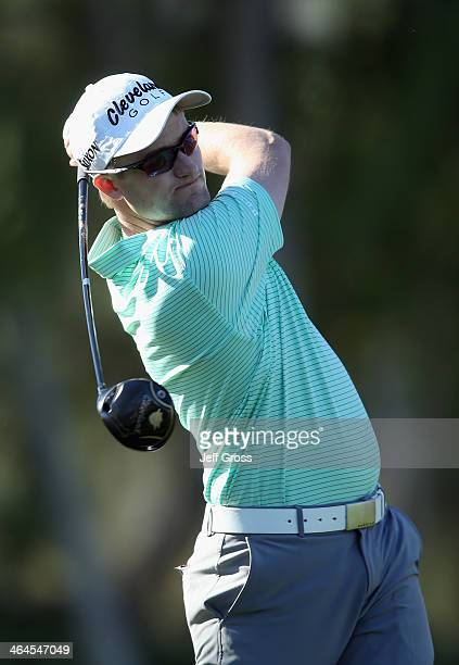 Russell Knox hits a shot during the first round of the Humana Challenge in partnership with the Clinton Foundation at the Arnold Palmer Private...