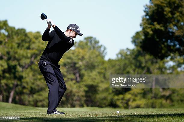 Russell Knox hits a tee shot on the 6th hole during the first round of the Valspar Championship at Innisbrook Resort and Golf Club on March 13 2014...