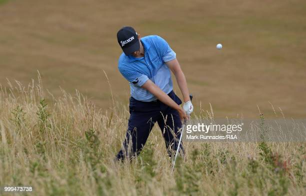 Jens Dantorp of Sweden and Ryan Fox of New Zealand putting at the 2nd hole during the Open Qualifying Series as part of the Aberdeen Standard...