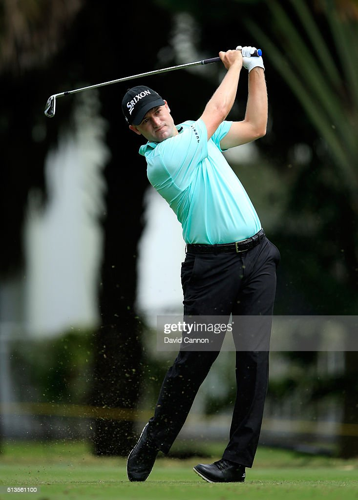 Russell Knox of Scotland plays his tee shot at the par 3, 13th hole during the first round of the 2016 World Golf Championship Cadillac Championship on the Blue Monster Course at the Trump National Resort on March 3, 2016 in Doral, Florida.