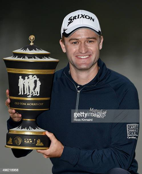 Russell Knox of Scotland with the winners trophy after the final round of the WGC HSBC Champions at the Sheshan International Golf Club on November 8...