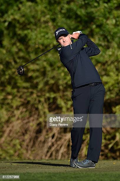 Russell Knox of the United States hits his tee shot on the third hole during the first round of the Honda Classic at PGA National Resort Spa...