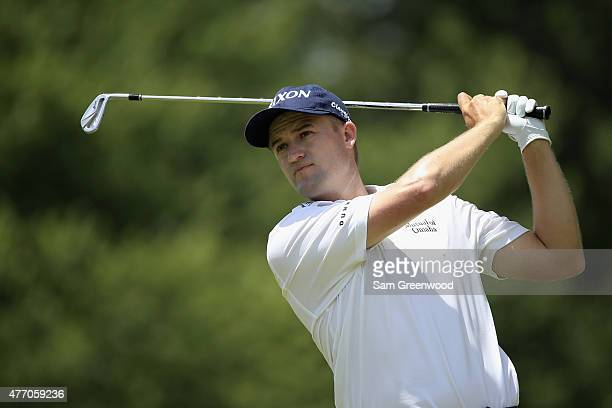 Russell Knox tees off on the 8th hole during round three of the FedEx St Jude Classic at TPC Southwind on June 13 2015 in Memphis Tennessee
