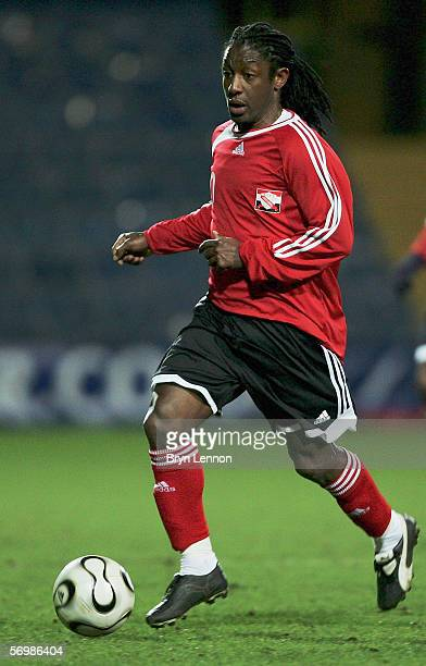 Russell Latapy of Trinidad and Tobago in action during the International Friendly between Trindad & Tobago and Iceland at Loftus Road on February 28,...