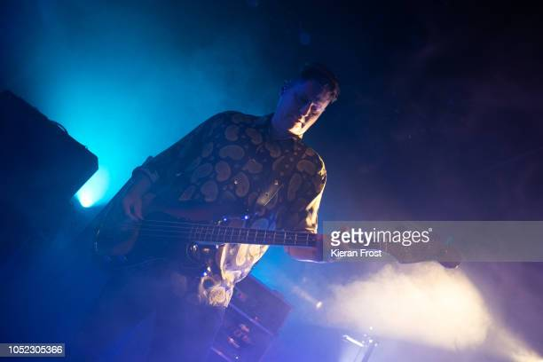 Russell Leetch of Editors perform at Vicar Street on October 16 2018 in Dublin Ireland