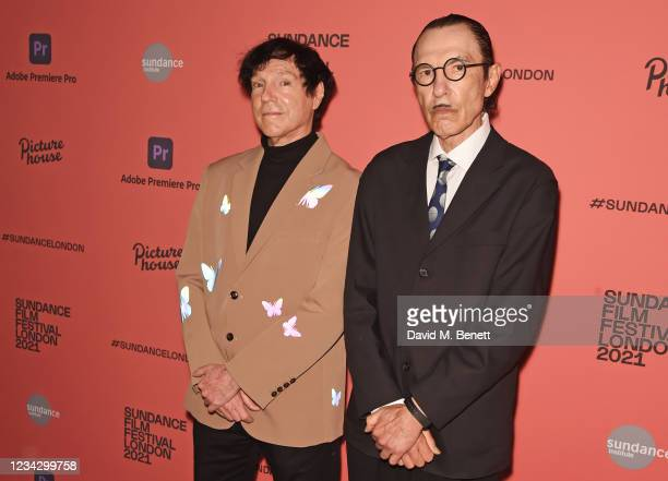 """Russell Mael and Ron Mael attend the UK Premiere of """"The Sparks Brothers"""" during The Sundance Film Festival London 2021 at Picturehouse Central on..."""