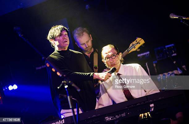 Russell Mael and Ron Mael of Sparks perform as the supergroup FFS at Glasgow Art School on June 16, 2015 in Glasgow, United Kingdom
