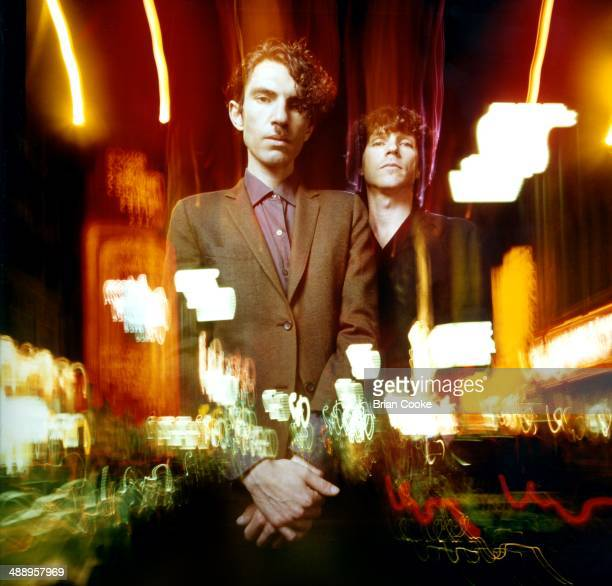 Russell Mael and Ron Mael of Sparks posed in a Covent Garden photo studio on 4th June 1979.