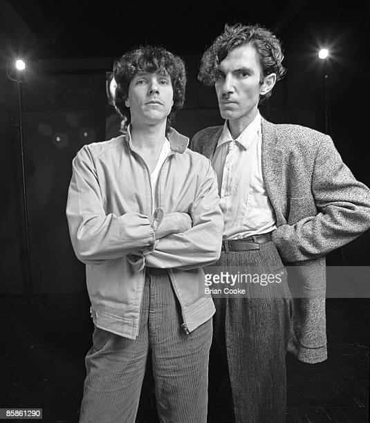 Russell Mael, Ron Mael of Sparks posed at studio session shot in Covent Garden, London on June 4 1979