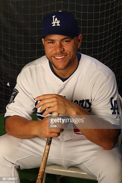 Russell Martin of the Los Angeles Dodgers poses during Photo Day on February 24, 2008 at Holman Stadium in Vero Beach, Florida.