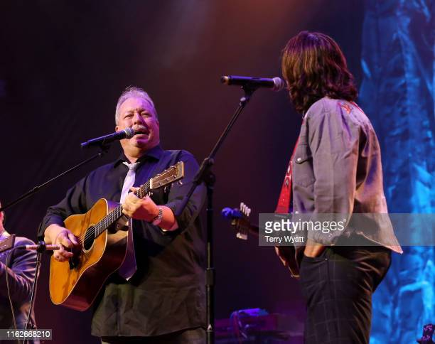 Russell Moore and IIIrd Tyme Out and Amy Ray perform on stage during the 6th Annual Georgia On My Mind presented by Gretsch at Ryman Auditorium...