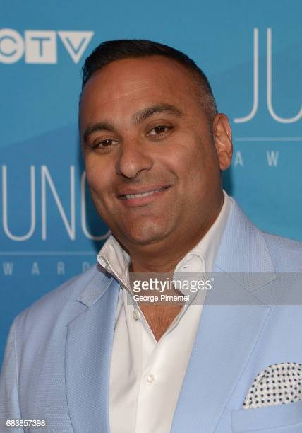 Russell Peters arrives at the 2017 Juno Awards at Canadian Tire Centre on April 2 2017 in Ottawa Canada