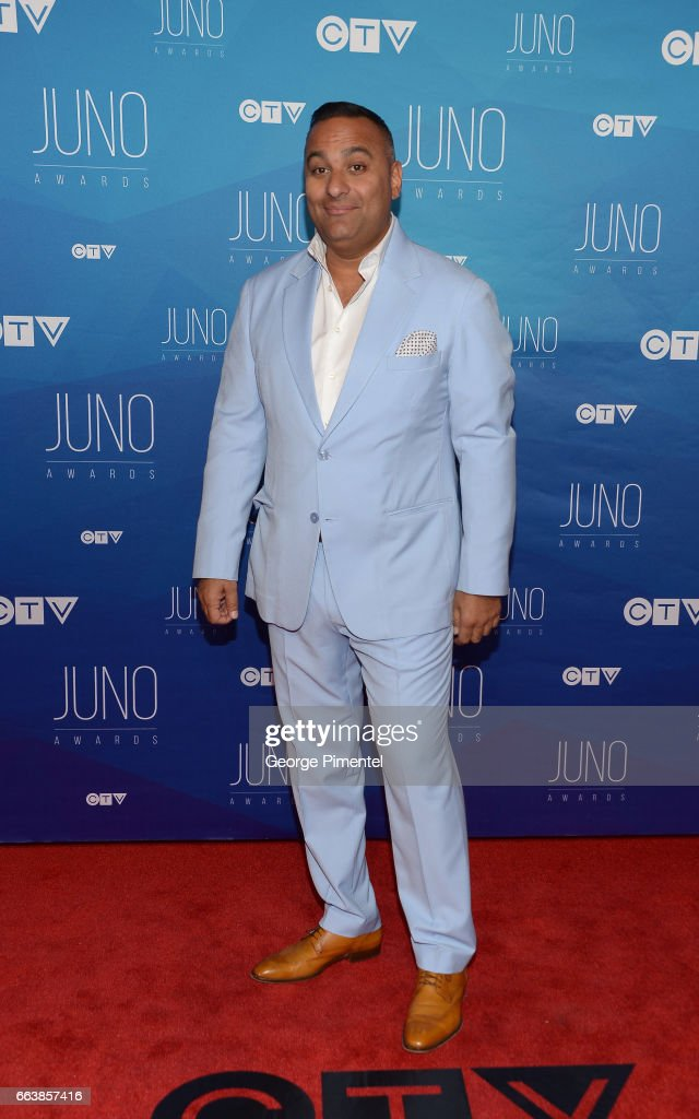 Russell Peters arrives at the 2017 Juno Awards at Canadian Tire Centre on April 2, 2017 in Ottawa, Canada.